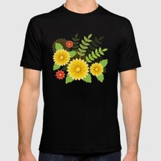 Spring Is Coming MEDIUM Mens Fitted Tee Black