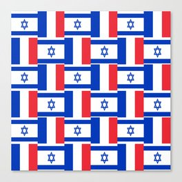 Mix of flag : france and israel Canvas Print