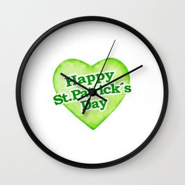 Unique Happy St. Patrick´s Day Design Wall Clock
