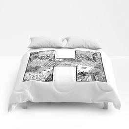 Cutout Letter H Comforters