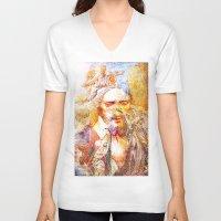 faith V-neck T-shirts featuring Faith by Joe Ganech