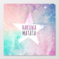 hakuna Canvas Prints featuring Hakuna Matata by Pink Berry Patterns