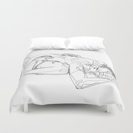 Let's stay like this Duvet Cover