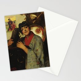 Léon Herbo 1850-1907 LA JAPONAISE Stationery Cards