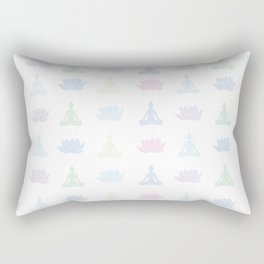 Yoga Lotus Rectangular Pillow