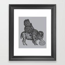 The Buffalo's Plea Framed Art Print