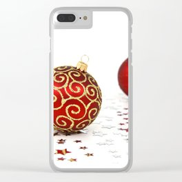 Merry Christmas Ornament Photo Clear iPhone Case