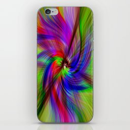 Coloured Whirligig iPhone Skin