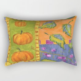 Pumpkins and Beautyberry Fruits Rectangular Pillow