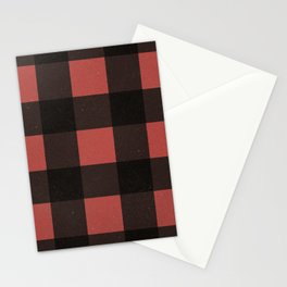 Distressed Buffalo Plaid (RED) Stationery Cards