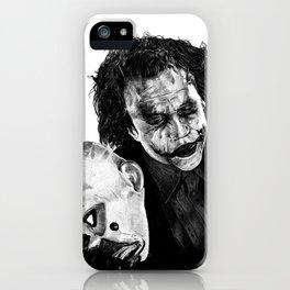 Heath's Joker - Movie Inspired Art iPhone Case