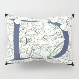 Monogram D Vines & Flowers Pillow Sham