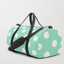 Polka Dots (White & Mint Pattern) Duffle Bag