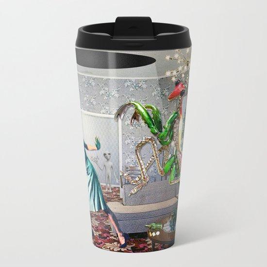 Mantis Encounter Metal Travel Mug