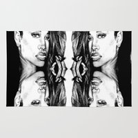 rihanna Area & Throw Rugs featuring Rihanna by Clairenisbet