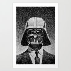 Darth Vader portrait #2 Art Print