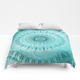 Tuquoise Metallic Mandala Comforters