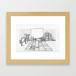 Whiteboard Framed Art Print