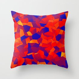 Geometric Shapes Fragments Pattern bry Throw Pillow