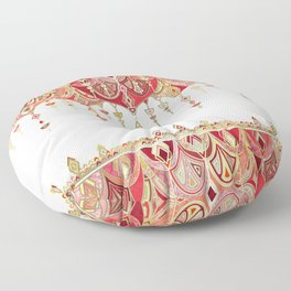 Royal Red Art Deco Double Drop Floor Pillow