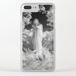 0200-GI BW Infrared Mother Nature Feminine Energy Clear iPhone Case