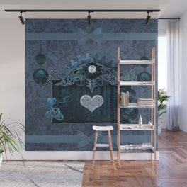A touch of steampunk with elegant heart Wall Mural