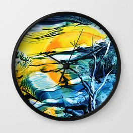 WinterFullMoon Wall Clock