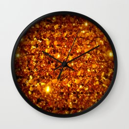 Copper Sparkle Wall Clock