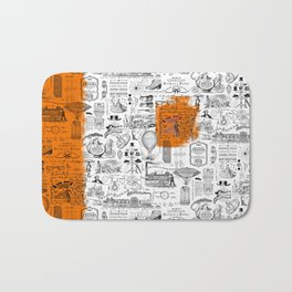 Looking Back to the Future Bath Mat