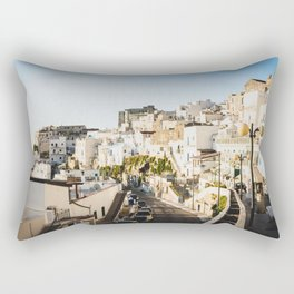 Afternoon in a white city Rectangular Pillow
