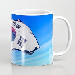 South Korea flag waving on the wind Coffee Mug