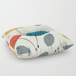 Dandelions in the wind Floor Pillow