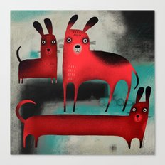 RED DOGS Canvas Print