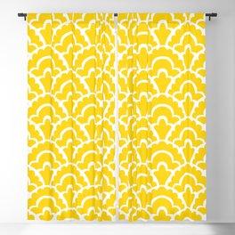 Fan Pattern Yellow 108 Blackout Curtain