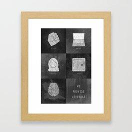 We Provide Leverage Framed Art Print