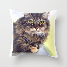 Maine Coon T Shirt - Maine Coon Cat Gift Throw Pillow