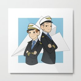 Come fly the friendly skies Metal Print