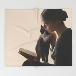 The PurrFect Read Throw Blanket