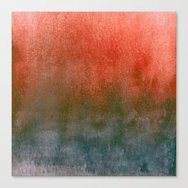 rusty teal watercolor Canvas Print
