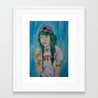 grimes Framed Art Prints featuring Grimes by Jenn