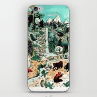 canada iPhone & iPod Skins featuring Wild Canada by Mathilde George