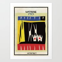 matisse Art Prints featuring matisse+ito by federico babina
