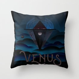 Nasa t-shirt. Nasa Venus poster. For space and science lovers. Throw Pillow