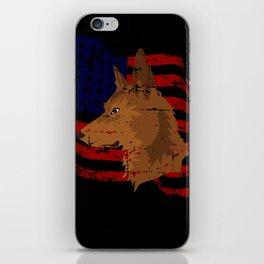 Dog Art Head Shepherd USA Flag America Gift iPhone Skin