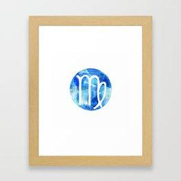 Virgin. Sign of the zodiac. Framed Art Print