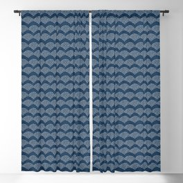 Wabi Sabi Arches in Blue Blackout Curtain