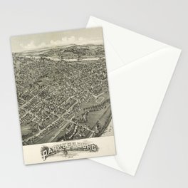 Aerial View of Parkersburg, West Virginia (1899) Stationery Cards