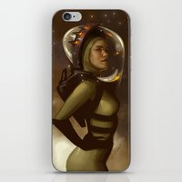 spaceman iPhone & iPod Skins featuring Spaceman by Kelly Perry