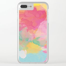 RAINBOW SPLATTER LAYERS Clear iPhone Case