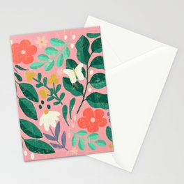 Fairytale Forest Floor in Bubblegum Pink Stationery Cards